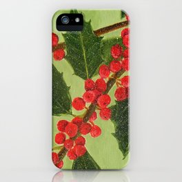 Jolly Holly Berries iPhone Case