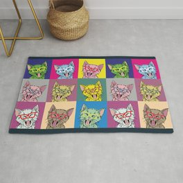 Pop Art Cats Rug