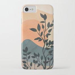 Orange Rising Sun iPhone Case
