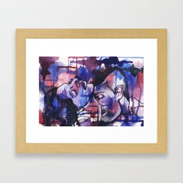 Love and Power Framed Art Print