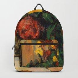 "Paul Cezanne ""Fleurs et pommes (Flowers and fruits)"" Backpack"