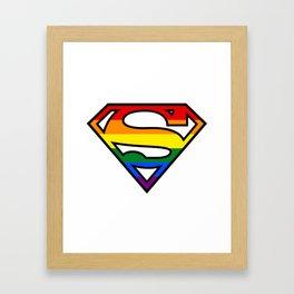SuperGay rainbow! Framed Art Print