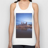 cleveland Tank Tops featuring Daybreak in Cleveland by Jeffrey Stroup