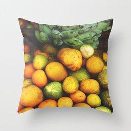 Tropical Fruits Throw Pillow