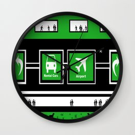 Busy Airport Wall Clock