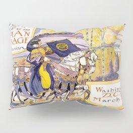 Vintage poster - Woman Suffrage Procession Pillow Sham