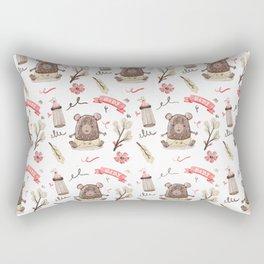 Cute Baby Pattern Bear Design. Rectangular Pillow