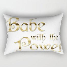 Labyrinth Babe With The Power (white bg) Rectangular Pillow