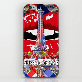 KISS FROM PARIS iPhone Skin