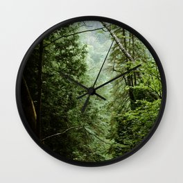 Deep Green Forest Wall Clock