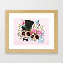 Together Forever - Sugar Skull Bride & Groom Framed Art Print