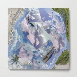 Mash A glass clouds Trapani- Guia-San Paolo, Italia-Brasile Metal Print