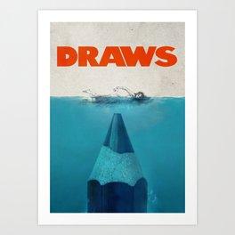 DRAWS Art Print