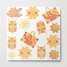 Travel pattern 4bg Metal Print