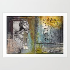 FOLLOWING FOXES Art Print