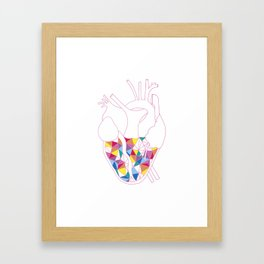 Love in every colour Framed Art Print