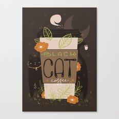 BLACK CAT COFFEE Canvas Print