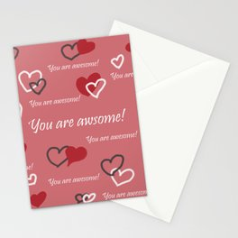You are awesome by Lu Stationery Cards