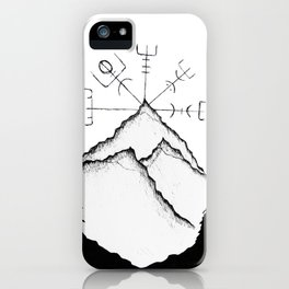 Mountain Compass iPhone Case