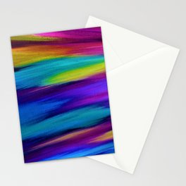ETHEREAL SKY - Large Abstract Sky Oil Painting Stationery Cards