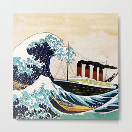 BIG SHIP big wave Metal Print