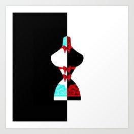 Bow Mannequin Art Print