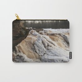 Wintry Bonanza Falls  Carry-All Pouch