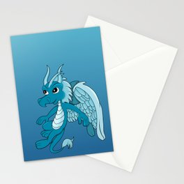 Flying blue dragon  Stationery Cards