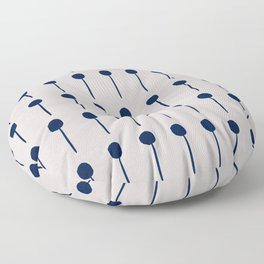 Circles and lines design Floor Pillow