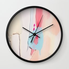 Even After All  #2 - Abstract on perspex by Jen Sievers Wall Clock
