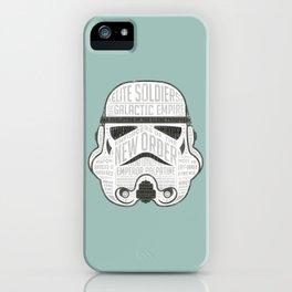 Stormtrooper trivia infographic print design iPhone Case