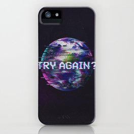 Humanity Glitch iPhone Case