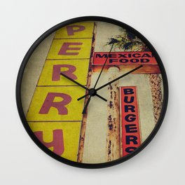 Perry's Vintage Sign Wall Clock