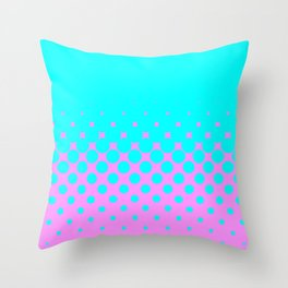 Blue Holes Throw Pillow