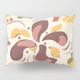 Flower beige brown illustration nature Pillow Sham