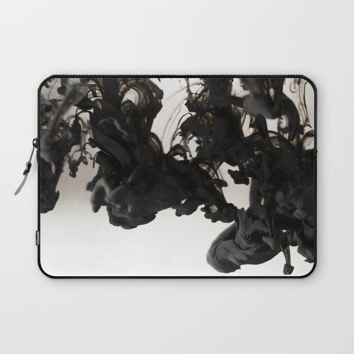 Black ink in water Laptop Sleeve