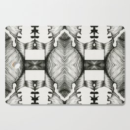 psychedelic pencil illustration Cutting Board
