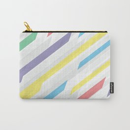 Tech geometric colorful lines background #society6 #decor #buyart #artprint Carry-All Pouch