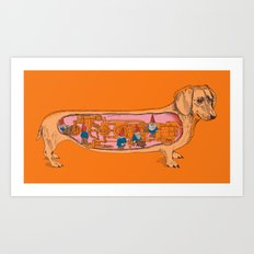 Secrets of the Dachshund  Art Print