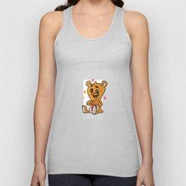 amorous Teddy Bear Unisex Tank Top