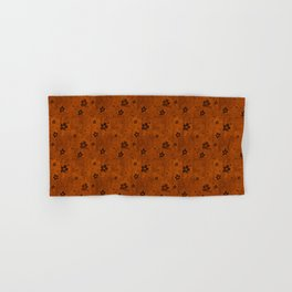 Burnt Orange Grunge Flowers and Hearts Pattern Gift Ideas Hand & Bath Towel
