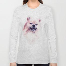 The Smiling Pomeranian Long Sleeve T-shirt