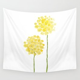 two abstract dandelions watercolor Wall Tapestry