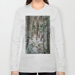 Palm Trees in the Green Swamp Long Sleeve T-shirt