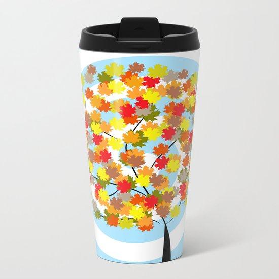 Tree in autumn Metal Travel Mug