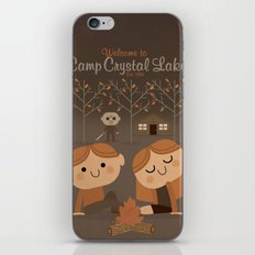 welcome to camp crystal lake iPhone & iPod Skin