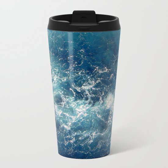 Sea splashes Metal Travel Mug