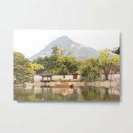 Gyeongbokgung Reflections - Seoul, Korea Metal Print