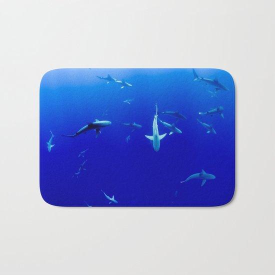 Sharks! Bath Mat