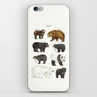 bears iPhone & iPod Skins featuring Bears by Amy Hamilton